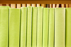 Books. Row of colorful green books with no titles Royalty Free Stock Image