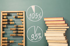 Books, abacus and diagrams Royalty Free Stock Photos