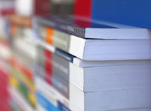 Books abstract. Abstract image of books at the bookshop Royalty Free Stock Photos