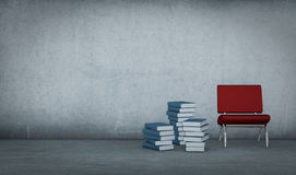 Free Books And Chair Stock Image - 27008051