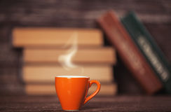 Books And Cup Of Coffee Stock Photography