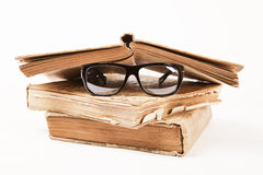 Books And Glasses Stock Photos