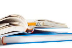 Books And Penci Royalty Free Stock Image