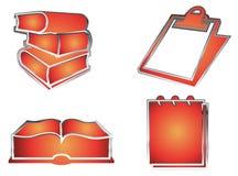 books anteckningsbokar royaltyfri illustrationer