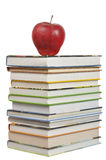 Books and Apple Royalty Free Stock Images