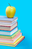 Books with apple Royalty Free Stock Photo