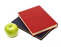 Books and an apple Royalty Free Stock Image