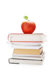 Books and apple Royalty Free Stock Photography