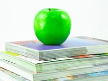 Books and an apple Royalty Free Stock Photos