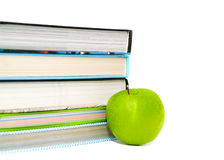 Books and apple. Royalty Free Stock Image