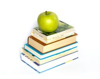 Books  and  apple Royalty Free Stock Image