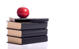 Books and an Apple Stock Photo