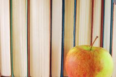 Books and apple Royalty Free Stock Photos