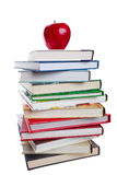 Books With Apple Royalty Free Stock Image