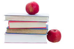 Books and apples Royalty Free Stock Photography