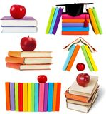 Books and Apples Stock Photos