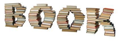 Books arranged like word book Stock Photos