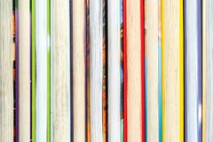 Books arranged in a row. Close-up of books arranged in a row royalty free stock images