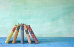 Books arrangement Royalty Free Stock Images