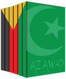 Books about Azawad. Books about the country of Azawad. Symbol flag Royalty Free Stock Image
