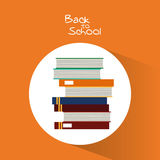 Books of back to school design Royalty Free Stock Photo