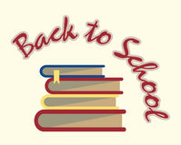 Books back to school sign Royalty Free Stock Image