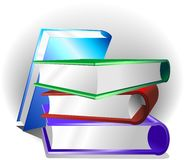 Books Background. Some Multicolored Book for a Cultural Background Stock Photography
