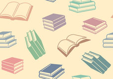 Books background. Seamless background with colour books vector illustration