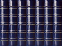 Books on the background. Collection blue books stack on the office background royalty free stock photography