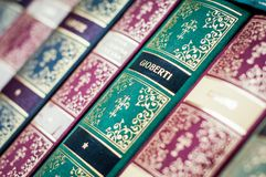Books background. Decorative books spine. stock photography