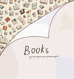 Books background with paper texture Royalty Free Stock Photography