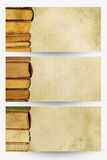 Books banners Royalty Free Stock Images