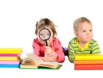 books barn Arkivbild