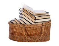 Books in the basket Stock Images
