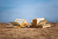 Books on a beach Royalty Free Stock Photo