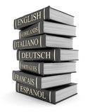Books bindings and Literature. Picture pages,  Books bindings and Literature Royalty Free Stock Images