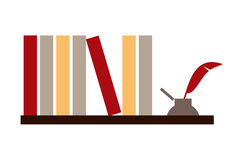 books bläckhorn Royaltyfria Foton