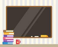 Books and black board. Back to school. Education Stock Images