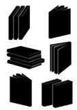 Books in black colour Stock Photography