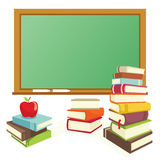 Books and blackboard Royalty Free Stock Photography