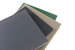 Books with a blank cover Stock Photo