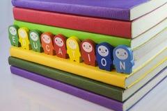 Books and blocks Stock Photo