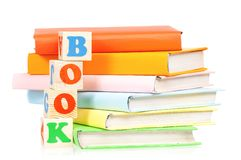 Books with blocks Stock Images