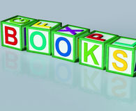 Books Blocks Shows Novels Non-Fiction And Reading Royalty Free Stock Images