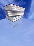 Books on blue sky stock photography