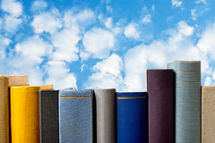 Books with blue sky Stock Image
