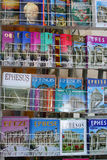Books, boklets about ephesus on sale Royalty Free Stock Image