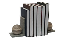 Books in book self holder Stock Image