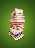 Books. Book stack isolated on green background Royalty Free Stock Photo