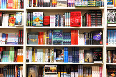 Books in book store Royalty Free Stock Photo